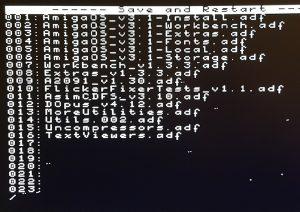 File Selector Screen, Cortex Firmware voor de Gotek drive