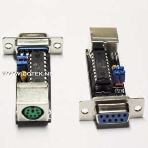 PS/2 mouse adapter for Amiga and Atari Family Front view