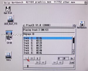 Workbench Screen, A500 IDE interface with CD-ROM connected