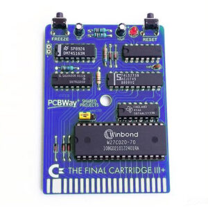 Final Cartridge III blue PCB