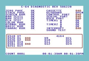 C64 Diagnostic Cart (586220+)