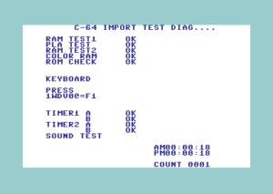 C64 Diagnostic Cart Import Test