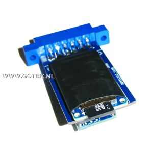 TapeCart MicroSD Bottom Back/view