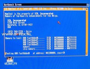 Memory test van de Amiga 500 Externe 2MB FastRam geheugen Uitbreiding